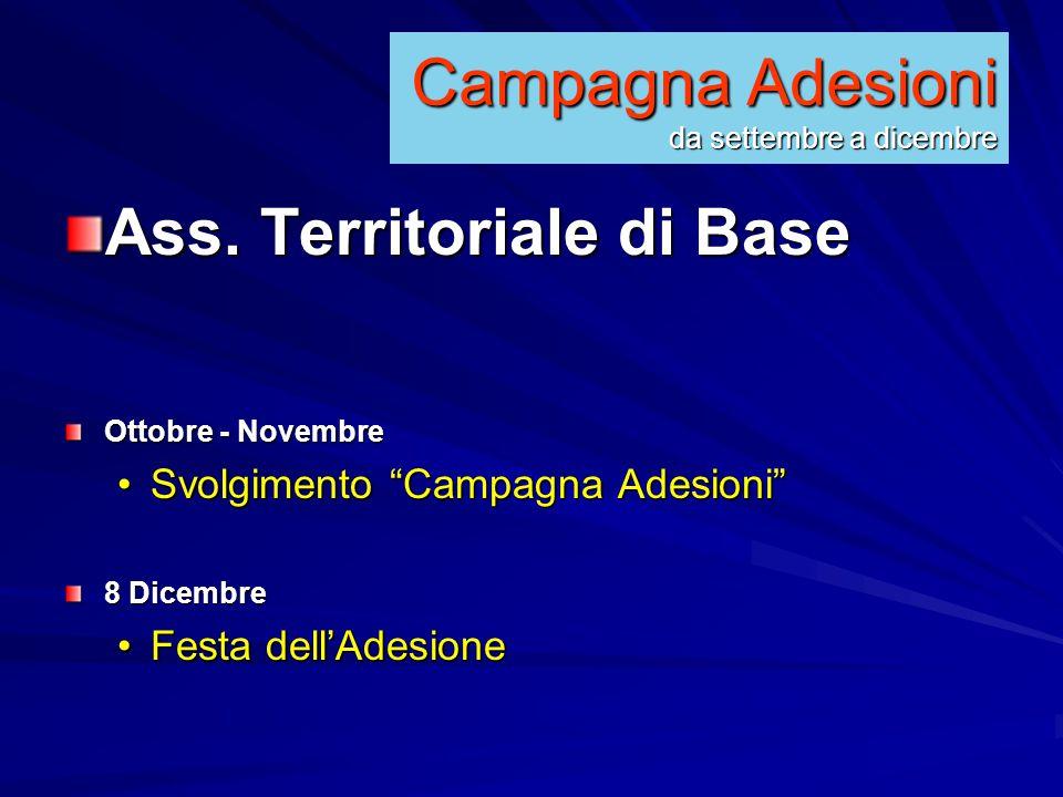 Campagna Adesioni da settembre a dicembre Ass.