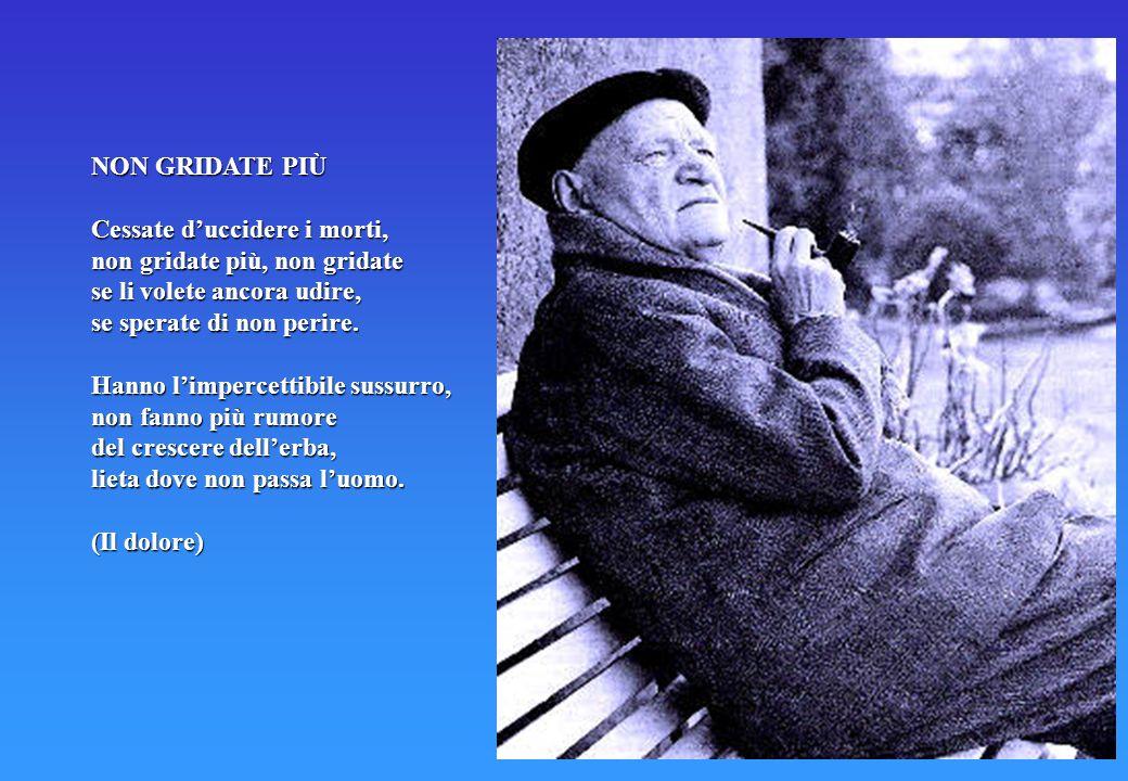 Terza fase: Nel 1936 Ungaretti è invitato a insegnare letteratura italiana all'Università di San Paolo in Brasile, dove tre anni dopo, a causa di un a