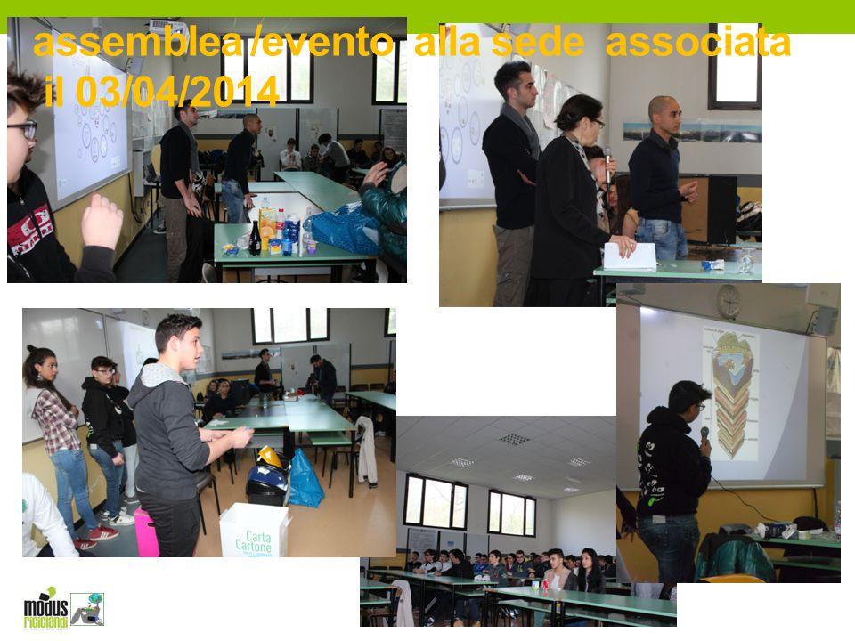 assemblea /evento alla sede associata il 03/04/2014