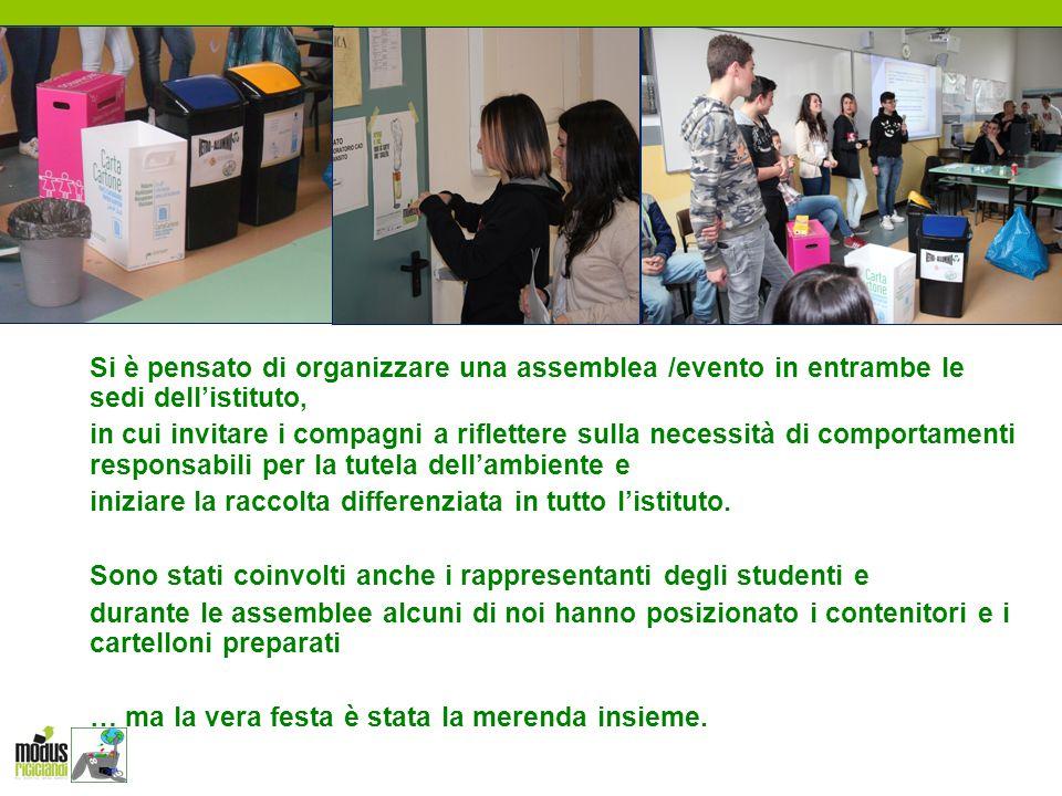 Si è pensato di organizzare una assemblea /evento in entrambe le sedi dell'istituto, in cui invitare i compagni a riflettere sulla necessità di compor