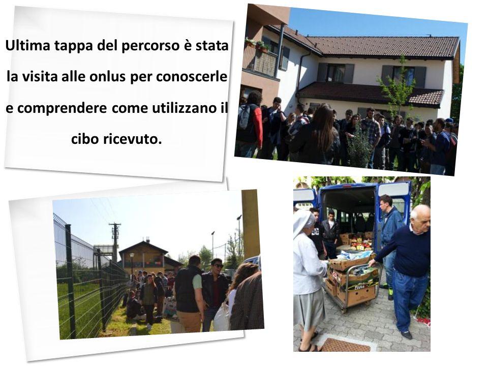 Ultima tappa del percorso è stata la visita alle onlus per conoscerle e comprendere come utilizzano il cibo ricevuto.