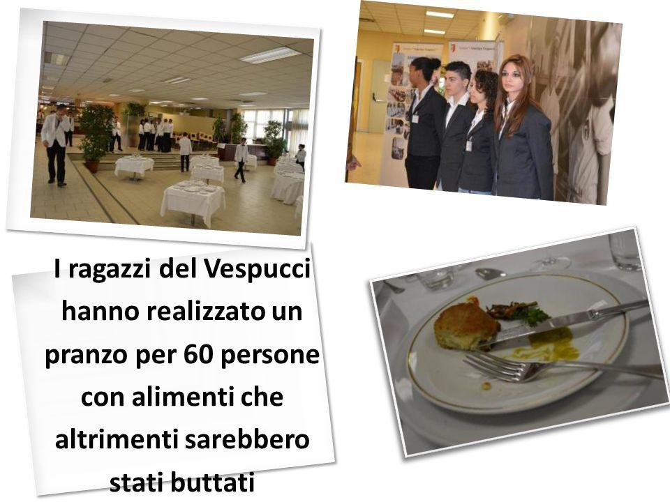 I ragazzi del Vespucci hanno realizzato un pranzo per 60 persone con alimenti che altrimenti sarebbero stati buttati