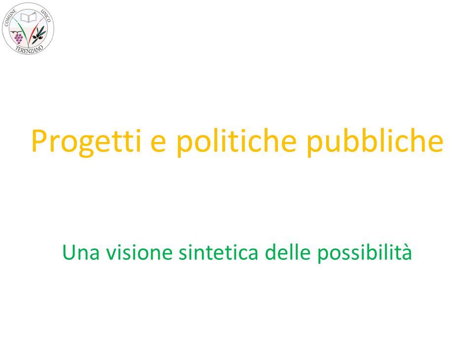 Progetti e politiche pubbliche Una visione sintetica delle possibilità
