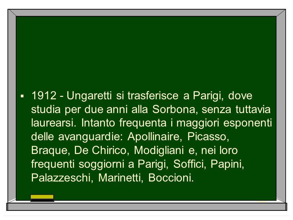  1914 Rientra in Italia per prendere un titolo di studio: l abilitazione all insegnamento della lingua francese.