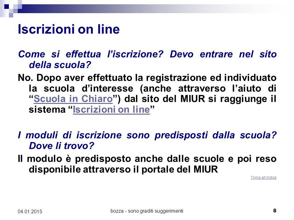 bozza - sono graditi suggerimenti29 04.01.2015 Alunni con cittadinanza non italiana 2 Mio figlio ha lo status di rifugiato, può accedere agli studi in Italia.