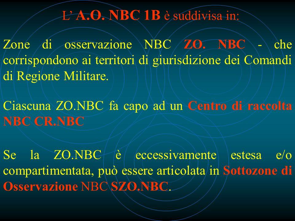 L' A.O. NBC 1B è suddivisa in: Zone di osservazione NBC ZO.