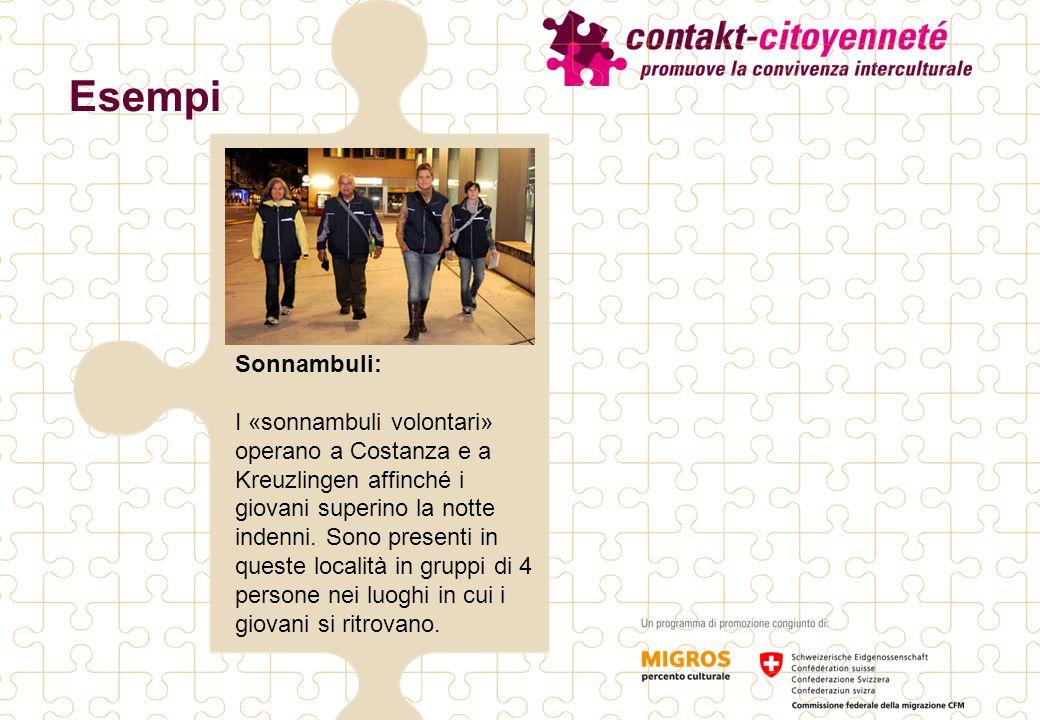 Esempi Sonnambuli: I «sonnambuli volontari» operano a Costanza e a Kreuzlingen affinché i giovani superino la notte indenni.