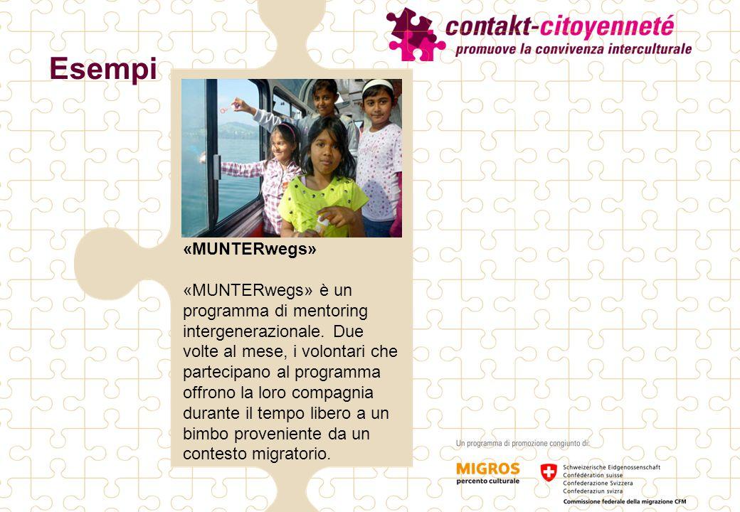 «MUNTERwegs» «MUNTERwegs» è un programma di mentoring intergenerazionale. Due volte al mese, i volontari che partecipano al programma offrono la loro