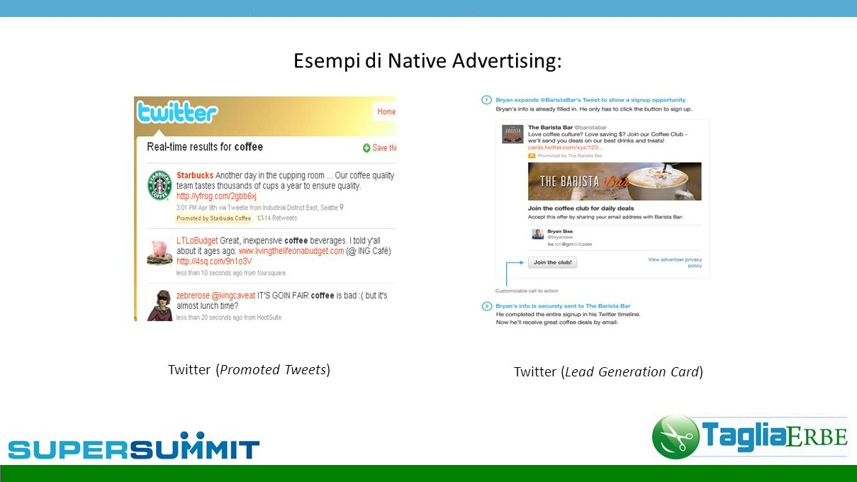 Esempi di Native Advertising: Tumblr (Spotlight) Tumblr (Web-In Stream)