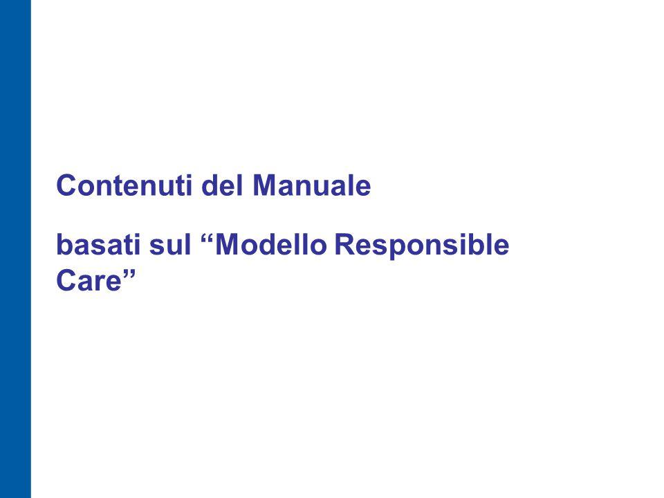 Contenuti del Manuale basati sul Modello Responsible Care