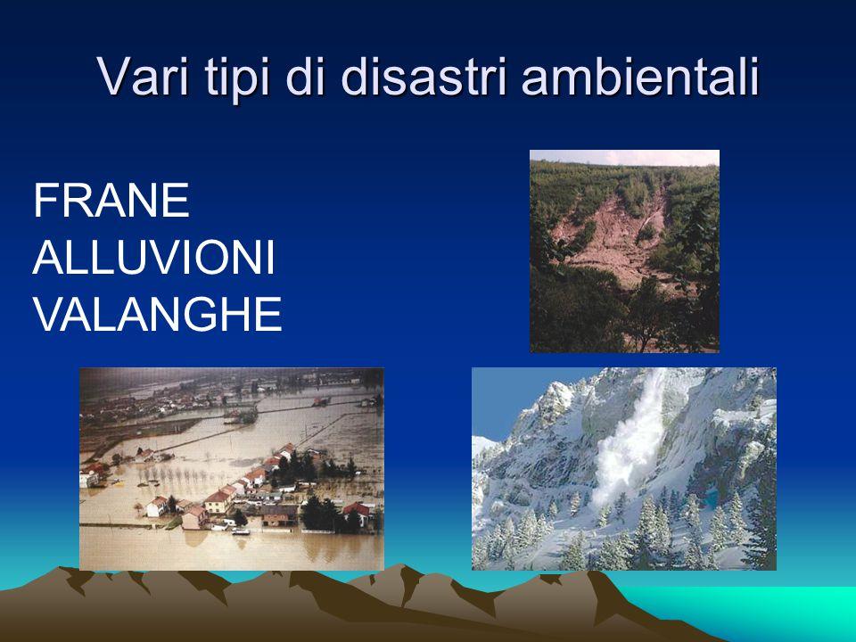 Tre esempi di cattiva gestione dell'ambiente: 1) SARNO (FRANA)