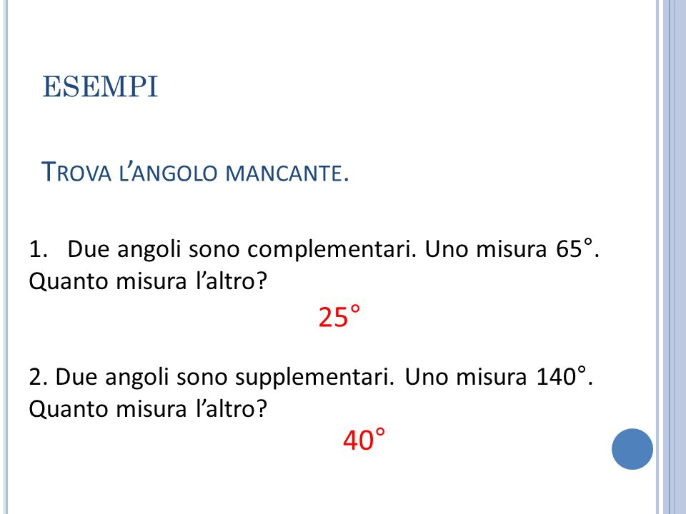 1. 2. x 55165 x X=35 X=15 T ROVA L ' ANGOLO MANCANTE.