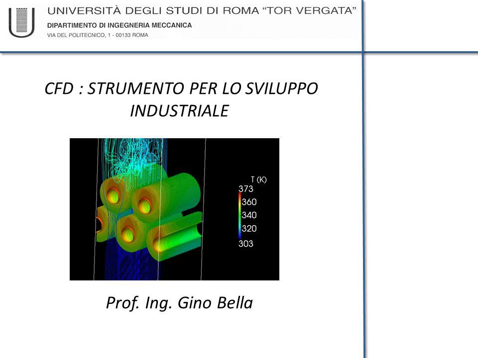 CFD : STRUMENTO PER LO SVILUPPO INDUSTRIALE Prof. Ing. Gino Bella
