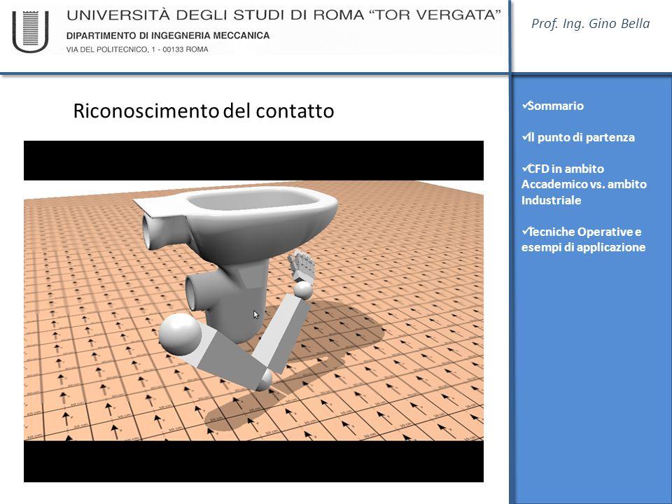Prof. Ing. Gino Bella Sommario Il punto di partenza CFD in ambito Accademico vs. ambito Industriale Tecniche Operative e esempi di applicazione Ricono