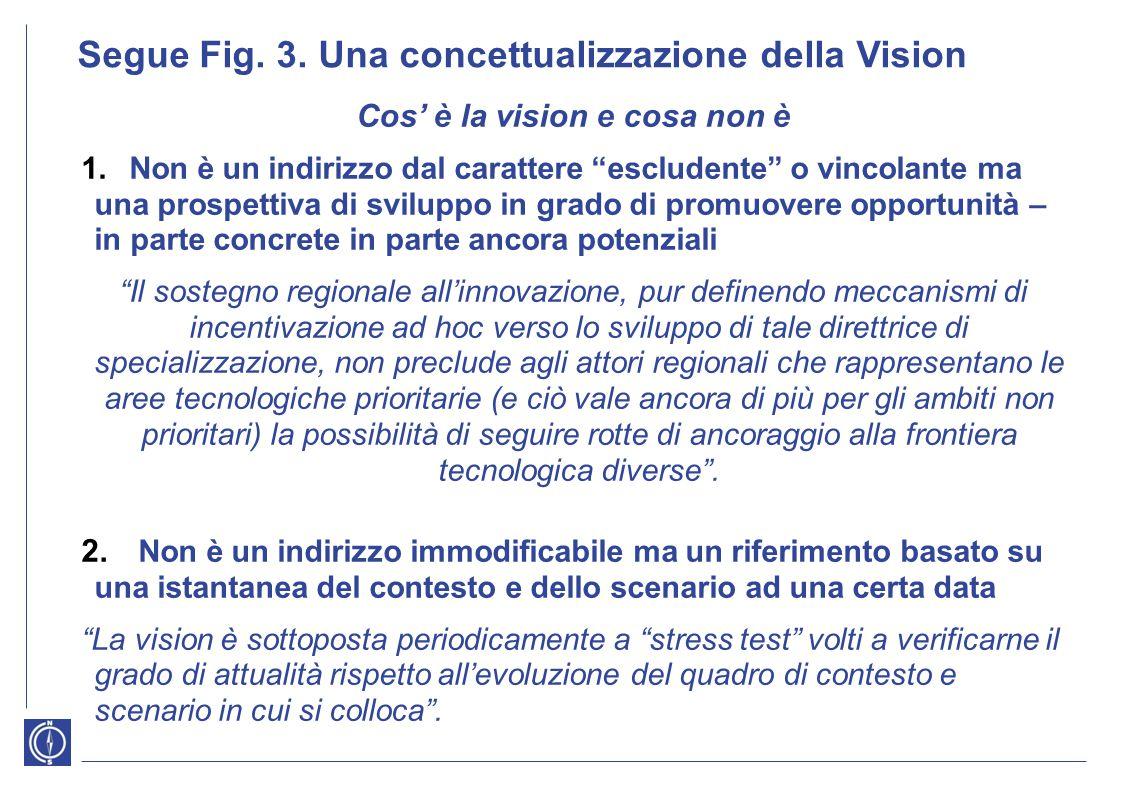 """Segue Fig. 3. Una concettualizzazione della Vision Cos' è la vision e cosa non è 1.Non è un indirizzo dal carattere """"escludente"""" o vincolante ma una p"""