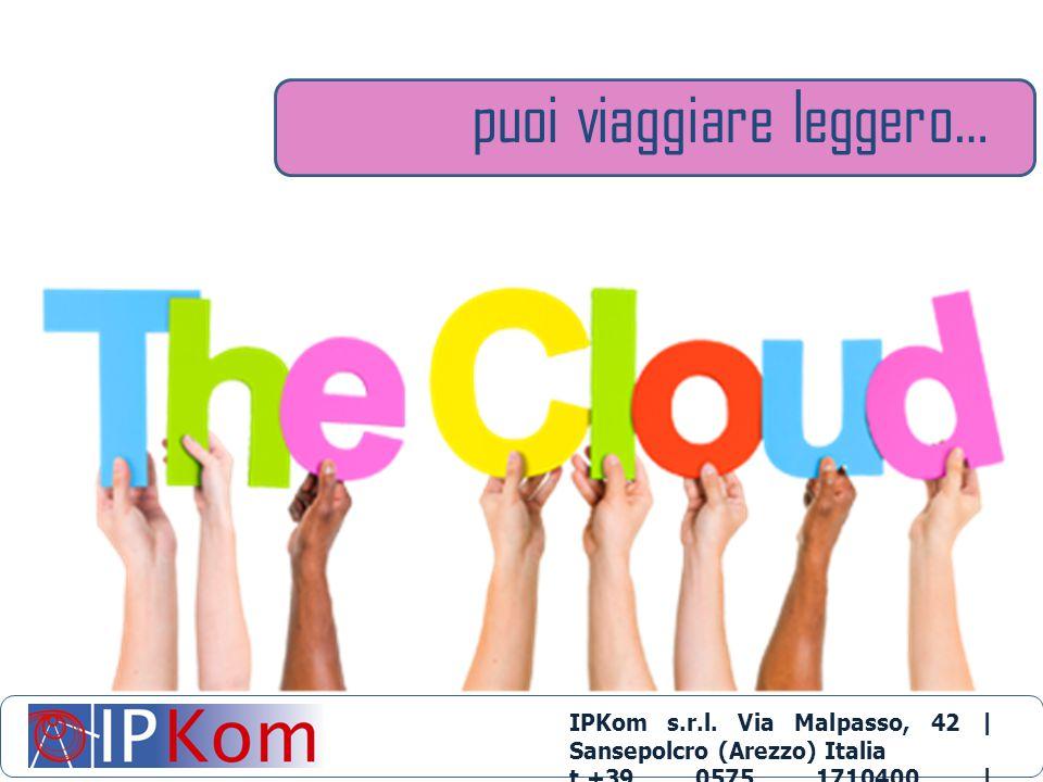 puoi viaggiare leggero… IPKom s.r.l. Via Malpasso, 42 | Sansepolcro (Arezzo) Italia t.+39 0575 1710400 | info@ipkom.com | www.ipkom.com