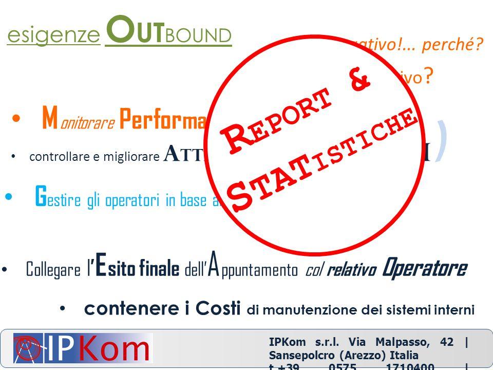IPKom s.r.l. Via Malpasso, 42 | Sansepolcro (Arezzo) Italia t.+39 0575 1710400 | info@ipkom.com | www.ipkom.com positivo ? negativo!... perché? esigen