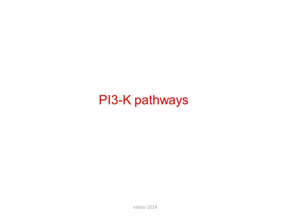 PI3-K pathways nabissi 2014