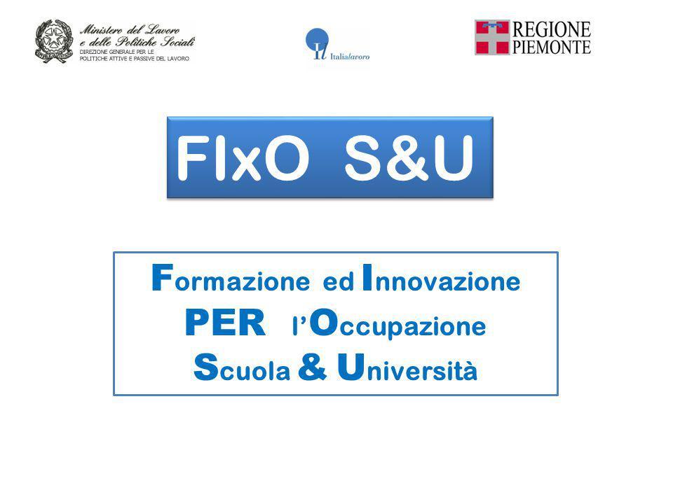 F ormazione ed I nnovazione PER l' O ccupazione S cuola & U niversità FIxO S&U