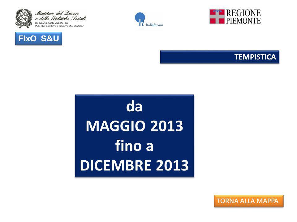 FIxO S&U TEMPISTICA da MAGGIO 2013 fino a DICEMBRE 2013 da MAGGIO 2013 fino a DICEMBRE 2013 TORNA ALLA MAPPA