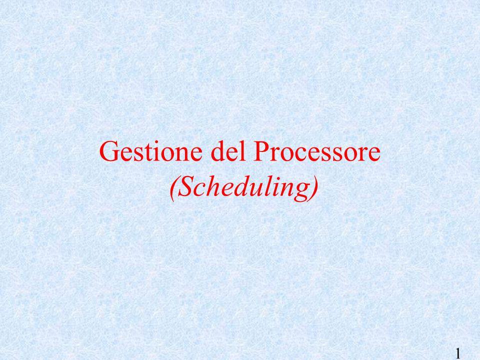 1 Gestione del Processore (Scheduling)