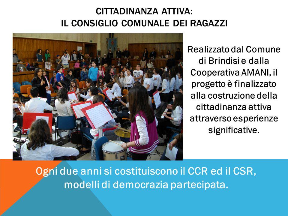 Realizzato dal Comune di Brindisi e dalla Cooperativa AMANI, il progetto è finalizzato alla costruzione della cittadinanza attiva attraverso esperienz