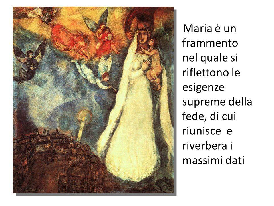 Ecco la grandezza semplice e sublime di Maria.