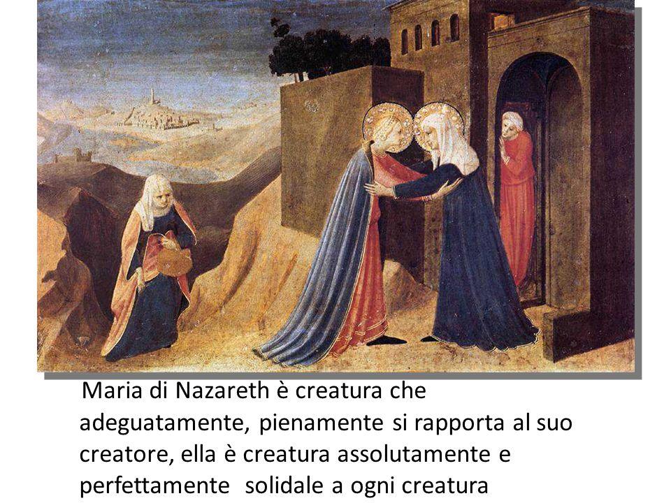 Maria poggia tutta la sua vita sulla certezza dell amore di Dio e in questa certezza il suo cuore trova equilibrio e pace.