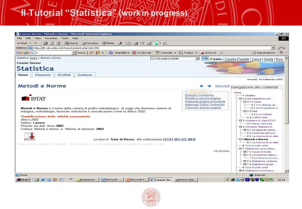 "Il Tutorial ""Statistica"" ( work in progress)"