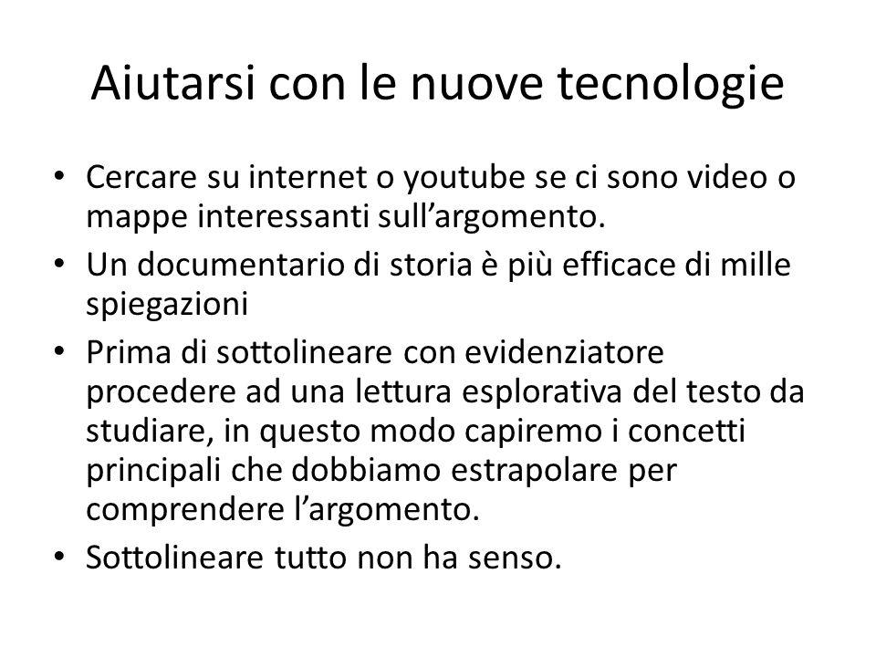 Aiutarsi con le nuove tecnologie Cercare su internet o youtube se ci sono video o mappe interessanti sull'argomento.