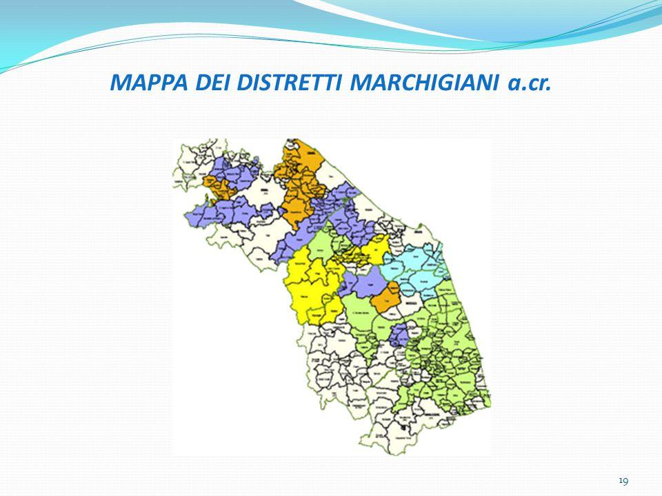 MAPPA DEI DISTRETTI MARCHIGIANI a.cr. 19