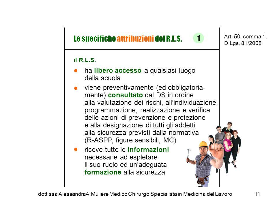 ha libero accesso a qualsiasi luogo della scuola viene preventivamente (ed obbligatoria- mente) consultato dal DS in ordine alla valutazione dei risch