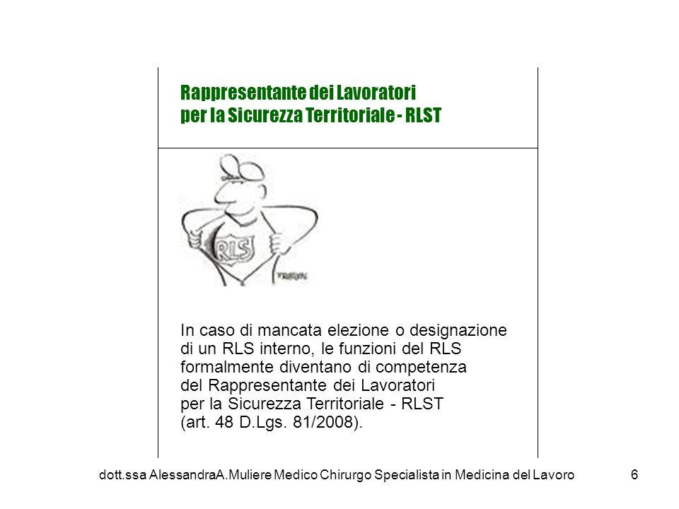 In caso di mancata elezione o designazione di un RLS interno, le funzioni del RLS formalmente diventano di competenza del Rappresentante dei Lavoratori per la Sicurezza Territoriale - RLST (art.