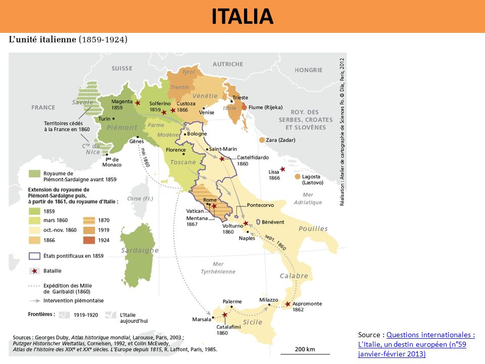 ITALIA Source : Questions internationales : L Italie, un destin européen (n°59 janvier-février 2013)Questions internationales : L Italie, un destin européen (n°59 janvier-février 2013)