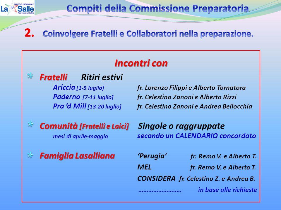 Incontri con Fratelli Fratelli Ritiri estivi Ariccia [1-5 luglio] fr.