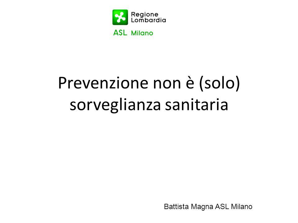 Prevenzione non è (solo) sorveglianza sanitaria Battista Magna ASL Milano