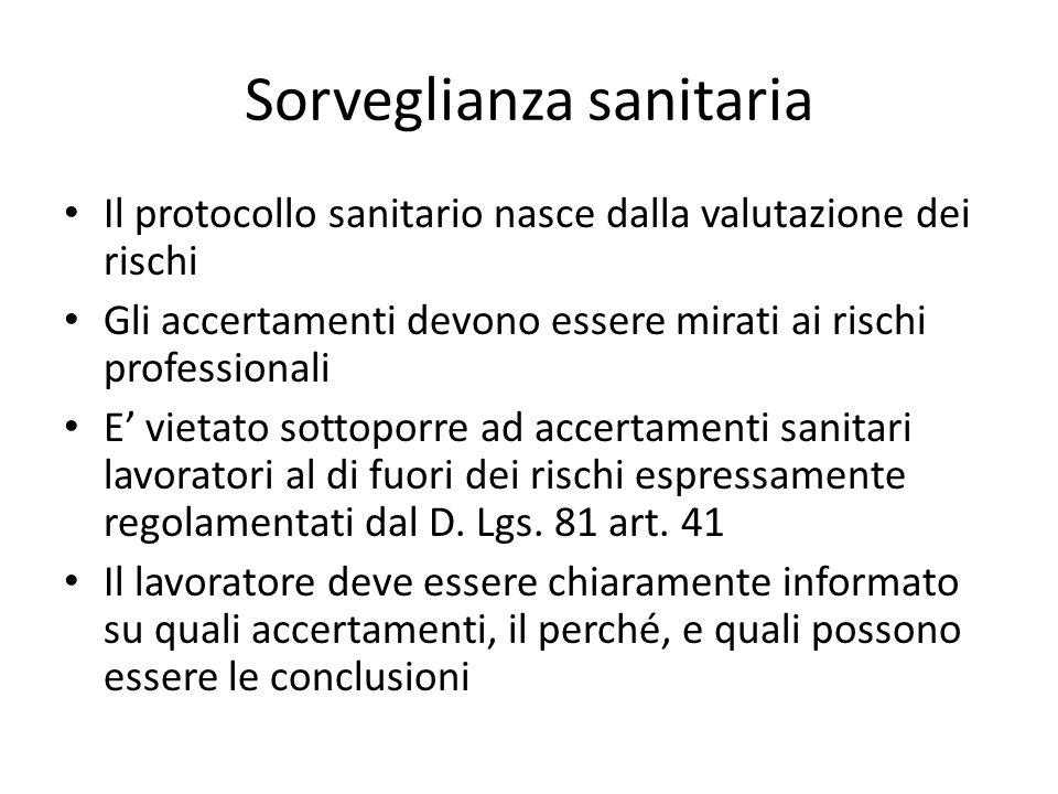 Sorveglianza sanitaria nella ASL di Milano Informazione oggi disponibile grazie alle relazioni annuali dei medici competenti Art.