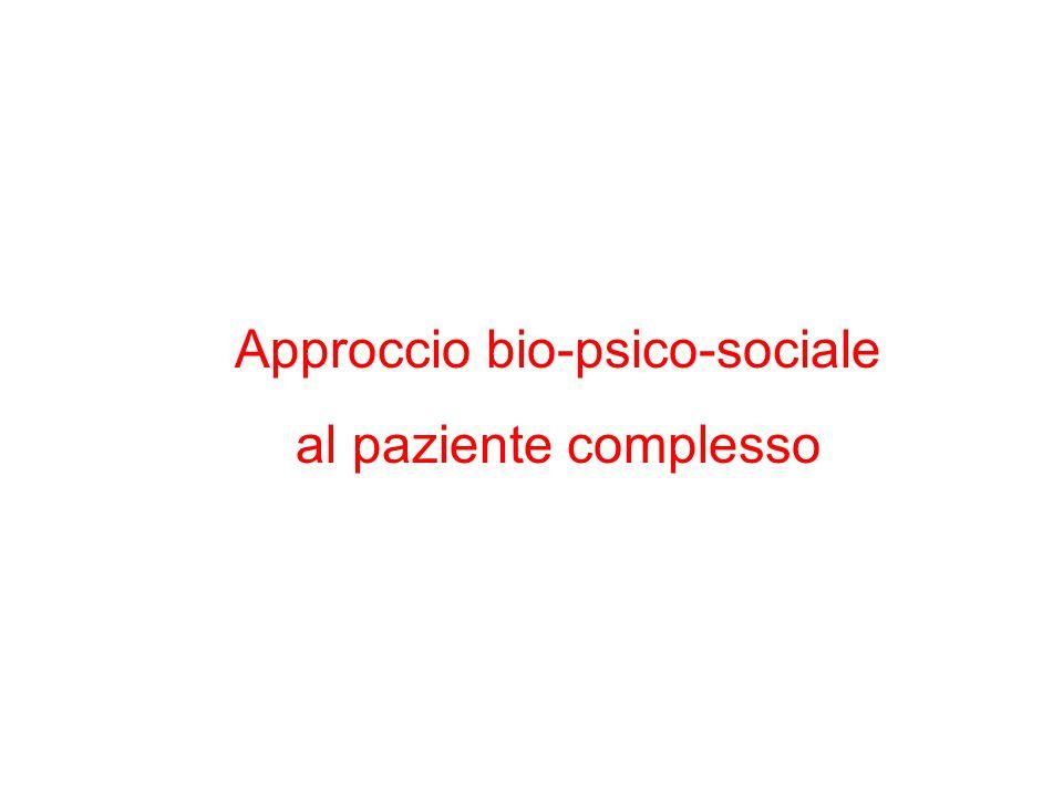 Approccio bio-psico-sociale al paziente complesso