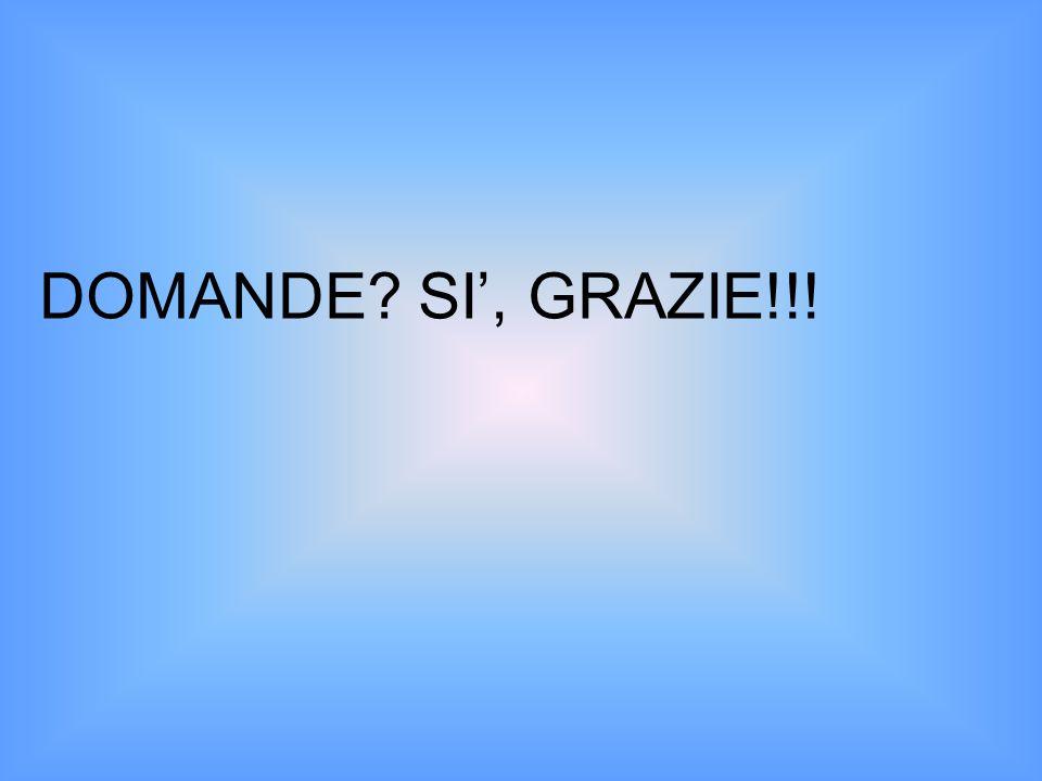 DOMANDE SI', GRAZIE!!!