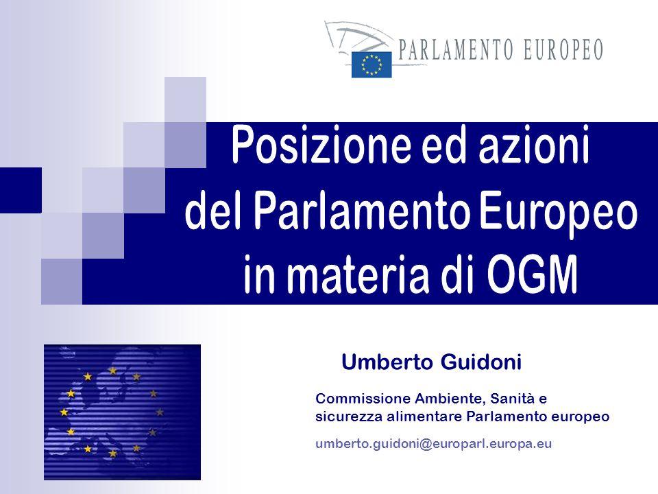 Umberto Guidoni umberto.guidoni@europarl.europa.eu Commissione Ambiente, Sanità e sicurezza alimentare Parlamento europeo