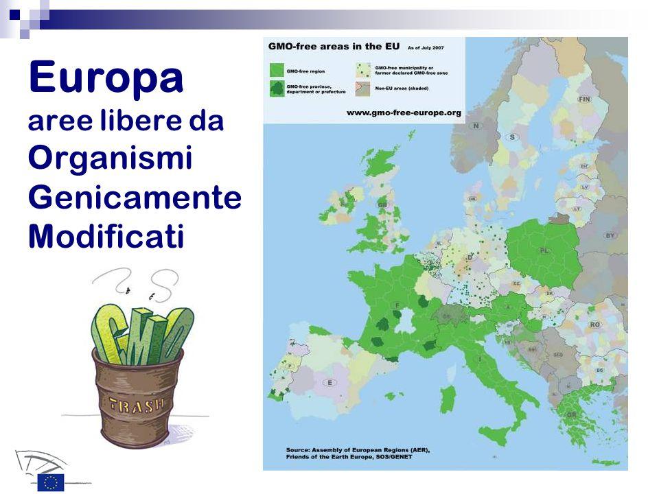 Europa aree libere da Organismi Genicamente Modificati