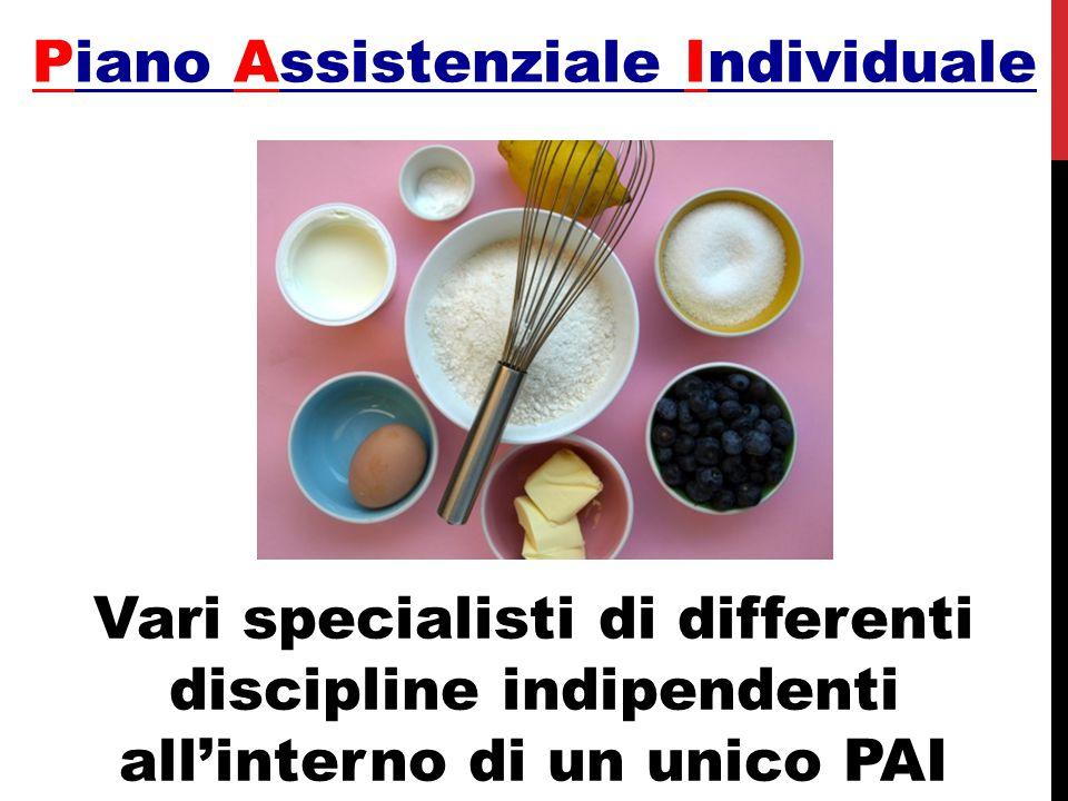 Vari specialisti di differenti discipline indipendenti all'interno di un unico PAI Piano Assistenziale Individuale