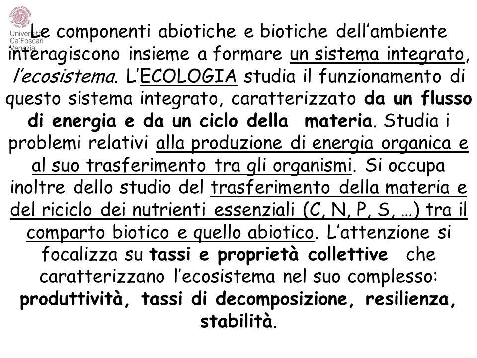 ELEVATO VALORE NATURALISTICO (flora e fauna selvatiche) ECOSISTEMI NATURALI AD ELEVATA PRODUTTIVITÀ ECOSISTEMI MODIFICATI (IN GRADO VARIABILE) DALL'UOMO (es.