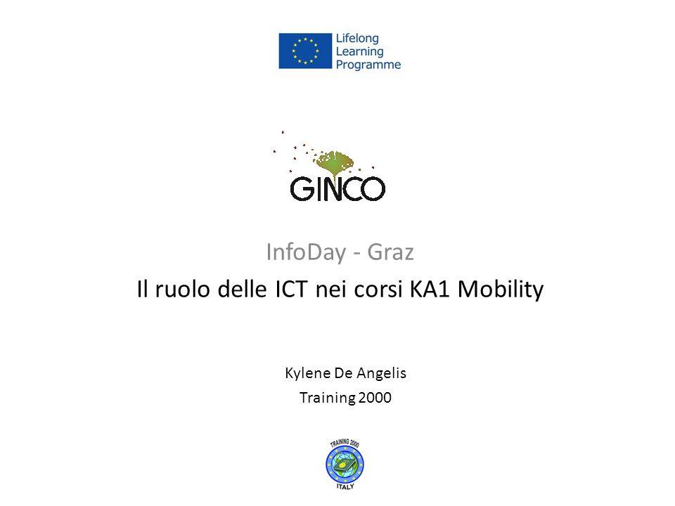 InfoDay - Graz Il ruolo delle ICT nei corsi KA1 Mobility Kylene De Angelis Training 2000