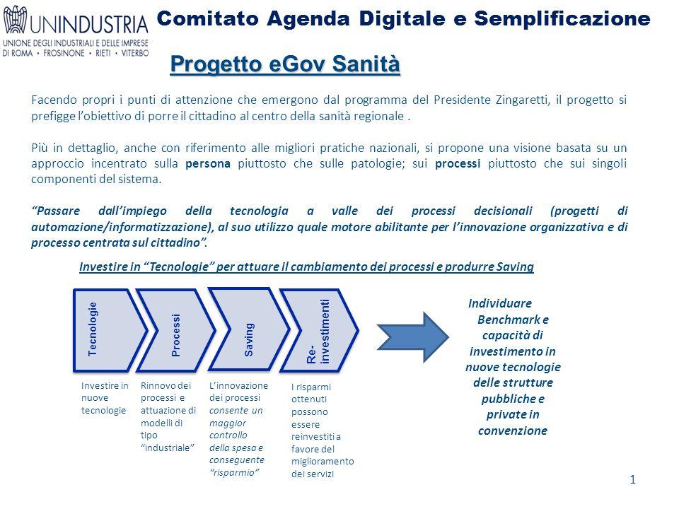 Comitato Agenda Digitale e Semplificazione Facendo propri i punti di attenzione che emergono dal programma del Presidente Zingaretti, il progetto si p