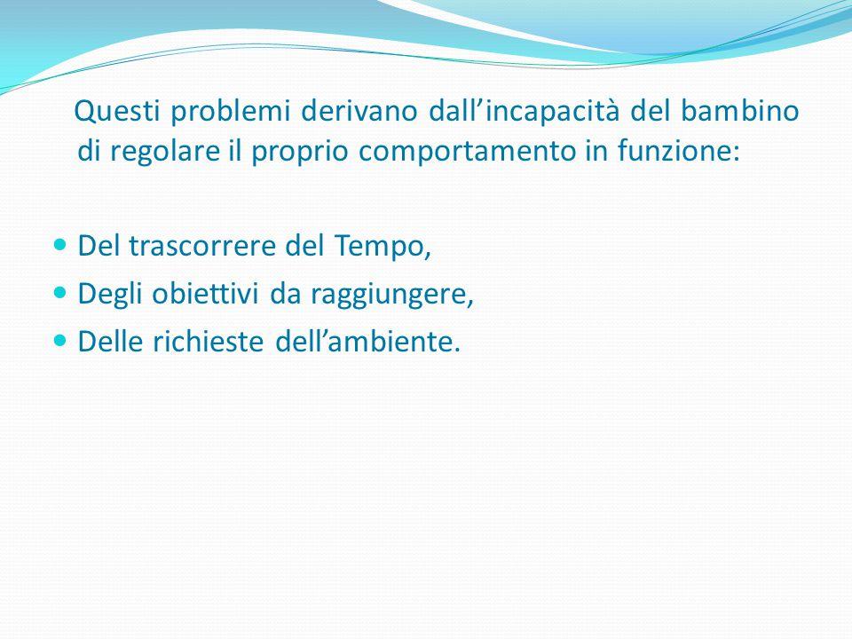 PENSARE OBIETTIVI SPECIFICI IN BASE ALL'ETA' DEL BAMBINO: PRIMI ANNI SCUOLA PRIMARIA: IMPOSTAZIONE E MANTENIMENTO DELLE REGOLE SOCIALI (GENITORI-INSEGNANTI), DEFINIZIONE E CONDIVISIONE DI OBIETTIVI COMPORTAMENTALI (BAMBINO); CLASSI SUCCESSIVE: ATTIVITA' SPECIFICHE RELATIVE ALL'ATTENZIONE E ALLE FUNZIONI EDUCATIVE (BAMBINO), GESTIONE DI ASPETTI RELAZIONALI ED EMOTIVI (GENITORI, INSEGNANTI); SCUOLA SECONDARIA: GESTIONE DI ASPETTI ORGANIZZATIVI DELLA QUOTIDIANITA', EMOTIVI E RELAZIONALI (RAGAZZO), GESTIONE DEGLI ASPETTI RELATIVI ALLA COMUNICAZIONE (GENITORI, INSEGNANTI).