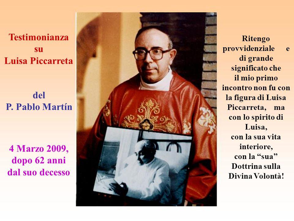 Testimonianza su Luisa Piccarreta del P.