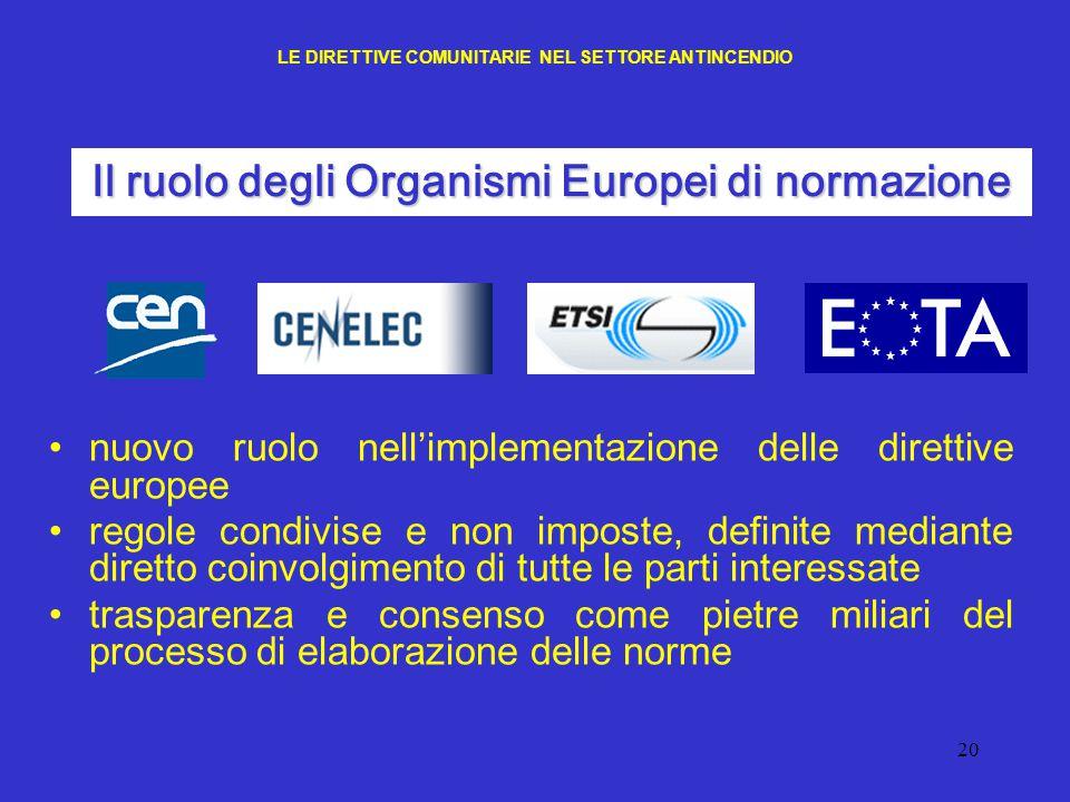 20 nuovo ruolo nell'implementazione delle direttive europee regole condivise e non imposte, definite mediante diretto coinvolgimento di tutte le parti