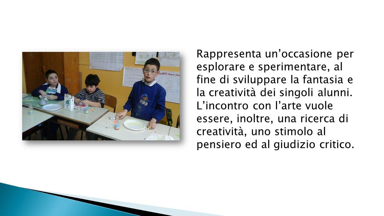 Rappresenta un'occasione per esplorare e sperimentare, al fine di sviluppare la fantasia e la creatività dei singoli alunni. L'incontro con l'arte vuo