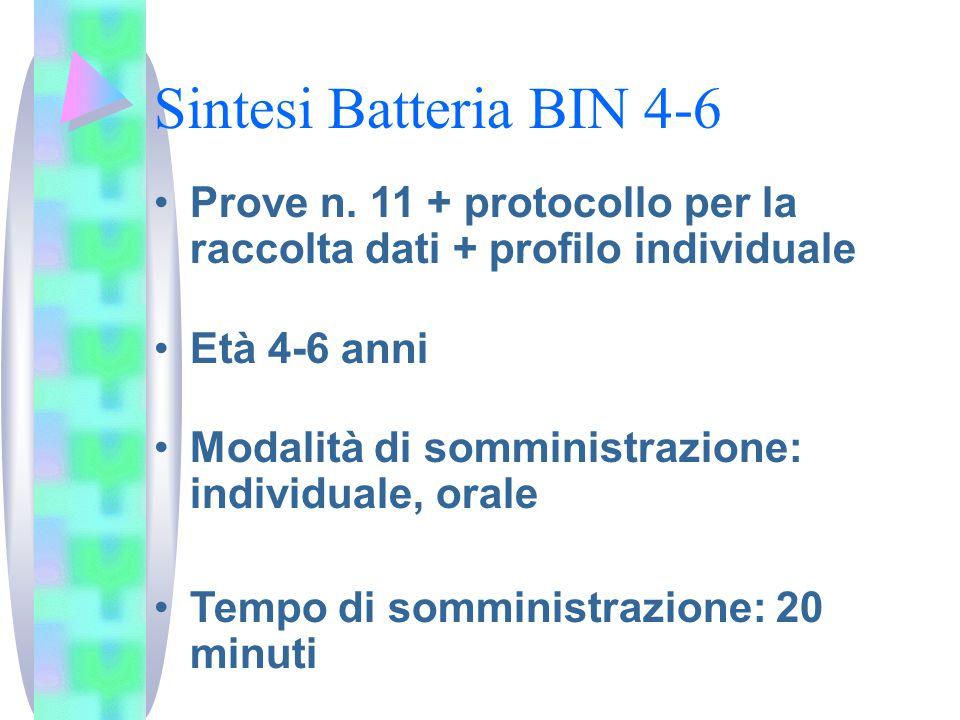 Sintesi Batteria BIN 4-6 Prove n.